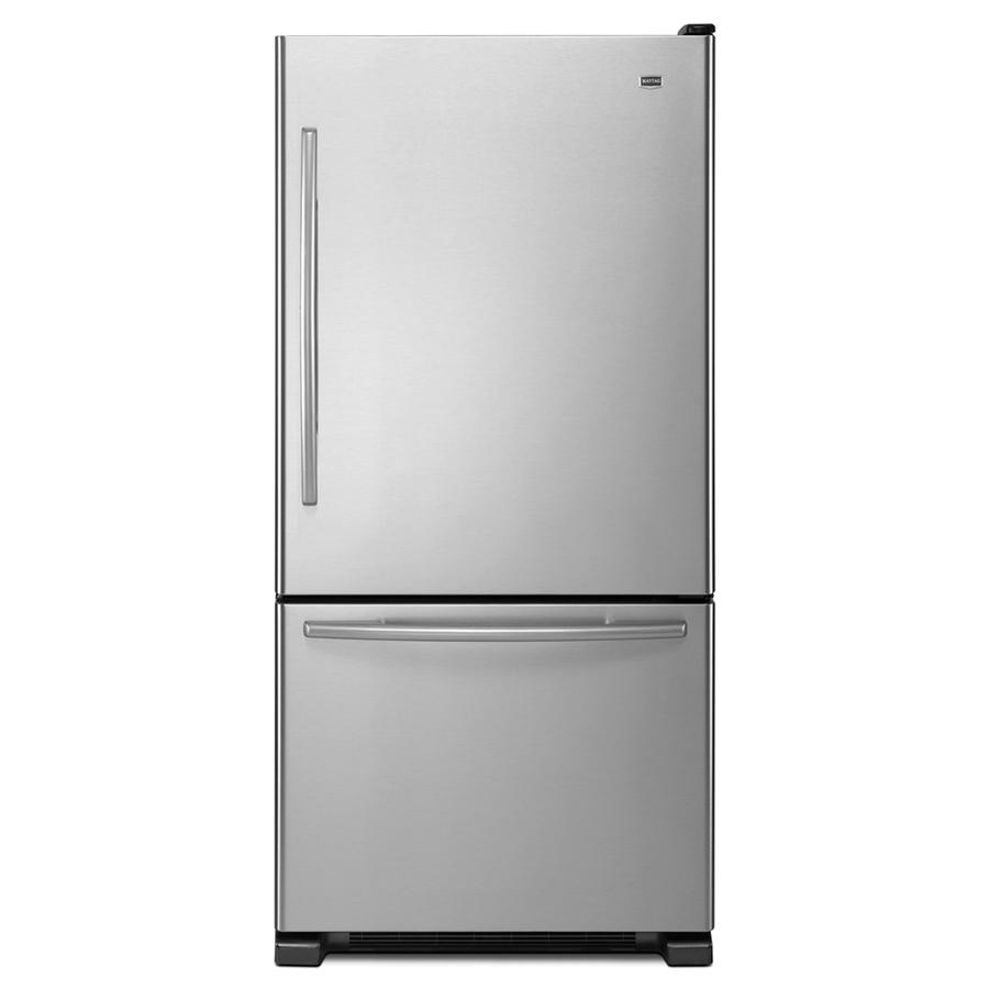 Shop Maytag 21.9-cu ft Bottom-Freezer Refrigerator with ...