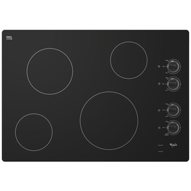Whirlpool Smooth Surface Electric Cooktop (Black) (Common...