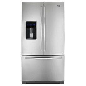 Whirlpool 24.7-cu ft French Door Refrigerator with Single Ice Maker (Stainless Steel) ENERGY STAR