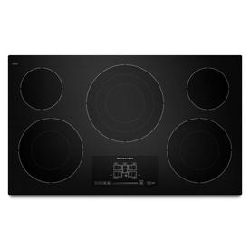 KitchenAid 5-Element Smooth Surface Electric Cooktop (Bla...