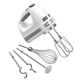 KitchenAid 61-In Cord 9-Speed White Hand Mixer Khm926wh