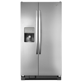 Whirlpool 24.5-Cu Ft Side-By-Side Refrigerator With Ice M...