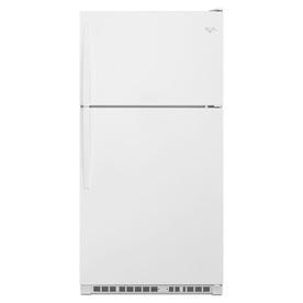 Shop Whirlpool 20 5 Cu Ft Top Freezer Refrigerator White