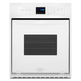 Whirlpool Single Electric Wall Oven (White) (Common: 24-in; Actual 23.75-in) WOS11EM4EW
