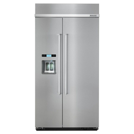 KitchenAid 25-Cu Ft Built-In Side-By-Side Refrigerator Wi...