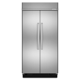 KitchenAid 30-Cu Ft Built-In Side-By-Side Refrigerator Wi...
