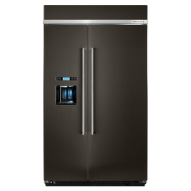 KitchenAid 29.5-Cu Ft Built-In Side-By-Side Refrigerator ...