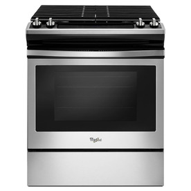Whirlpool 4-Burner 5-Cu Ft Self-Cleaning Slide-In Gas Ran...