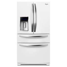 Swirl WRX735SDBH 36 Inch French Door Refrigerator with 24.7 cu. ft. Capacity, External Refrigeration Drawer, 5 Trifocals Shelves, Door Bins, ADA Compliant, AccuChill, PUR Filtration, Adaptive Defrost and Ice and Water Dispenser with Exact Fill: White Ice