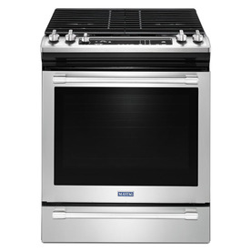 Maytag 5-Burner 5.8-Cu Ft Self-Cleaning Slide-In Convecti...