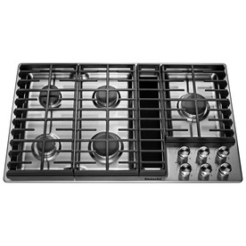 Display Product Reviews For 5 Burner Gas Cooktop With Downdraft Exhaust  (Stainless Steel)