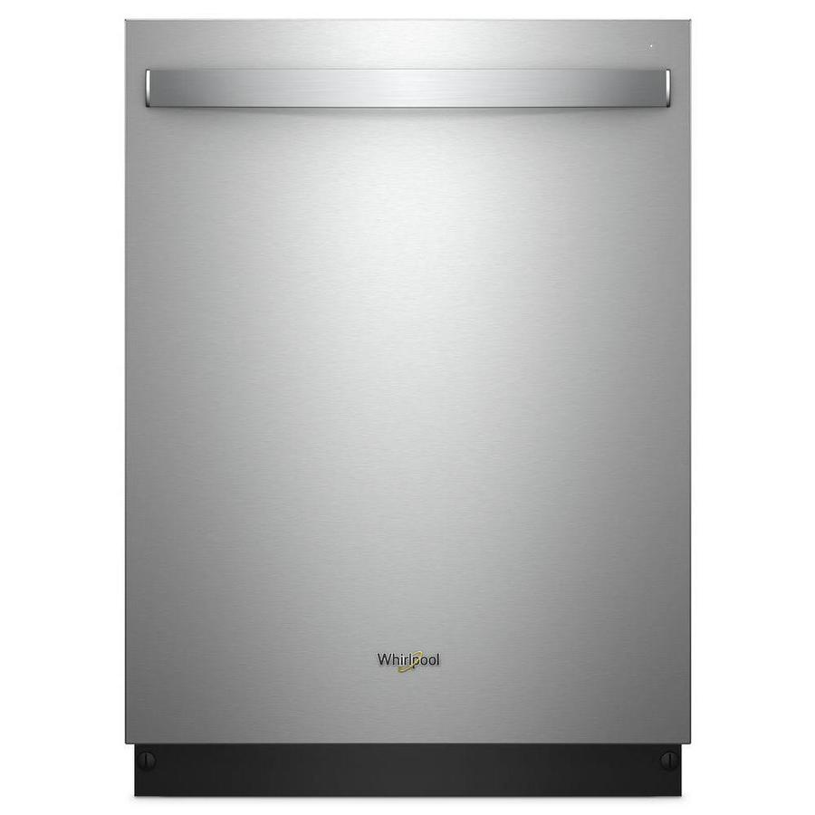 Whirlpool 47-Decibel Top Control 24-In Built-In Dishwasher (Fingerprint-Resistant Stainless Steel) Energy Star Wdt750sah