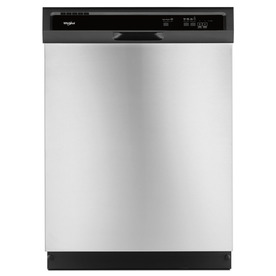 Whirlpool 55-Decibel Built-In Dishwasher (Stainless Steel...
