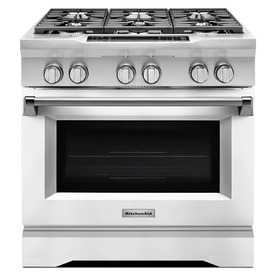 KitchenAid Deep Recessed 6-Burner Self-Cleaning Convectio...