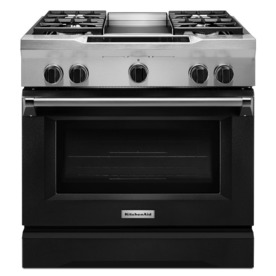 KitchenAid Deep Recessed 5-Burner Self-Cleaning Convectio...