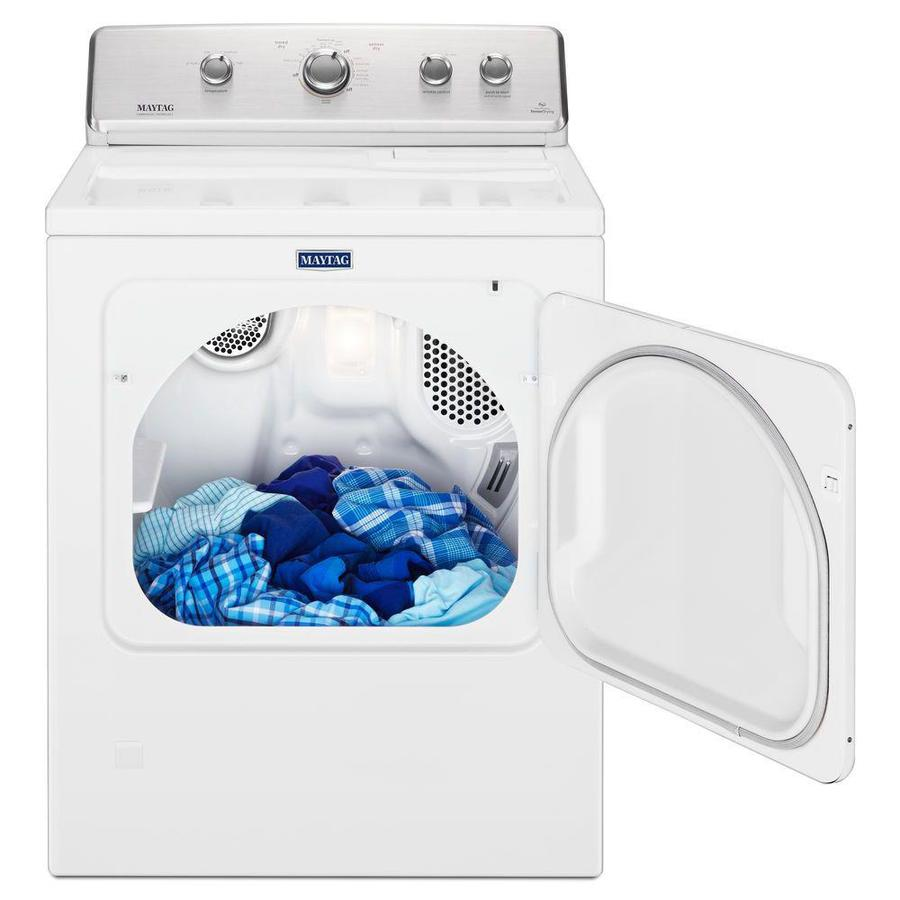 Maytag 7 Cu Ft Large Capacity Vented Gas Dryer With Wrinkle Control White In The Gas Dryers Department At Lowes Com