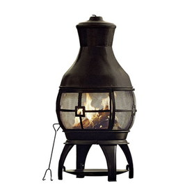 Lowes Garden Treasures Living Clay Amp Cast Iron Chiminea