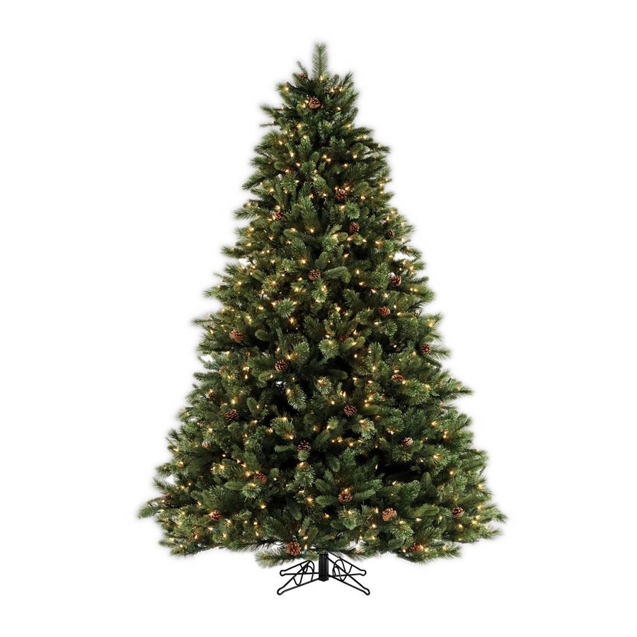 Shop SYLVANIA 7.5' Pine Artificial Christmas Tree with ...