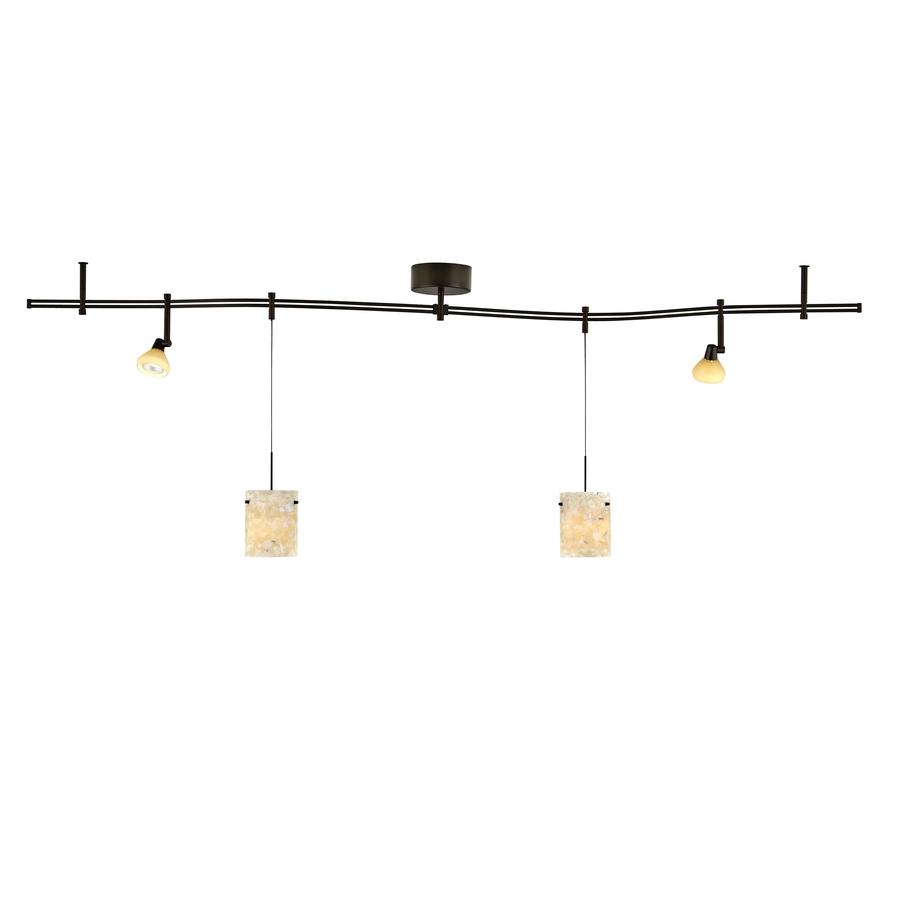 Decorative Track Lighting Fixtures: Shop Tiella 4-Light Bronze Decorative Flexible Track Light
