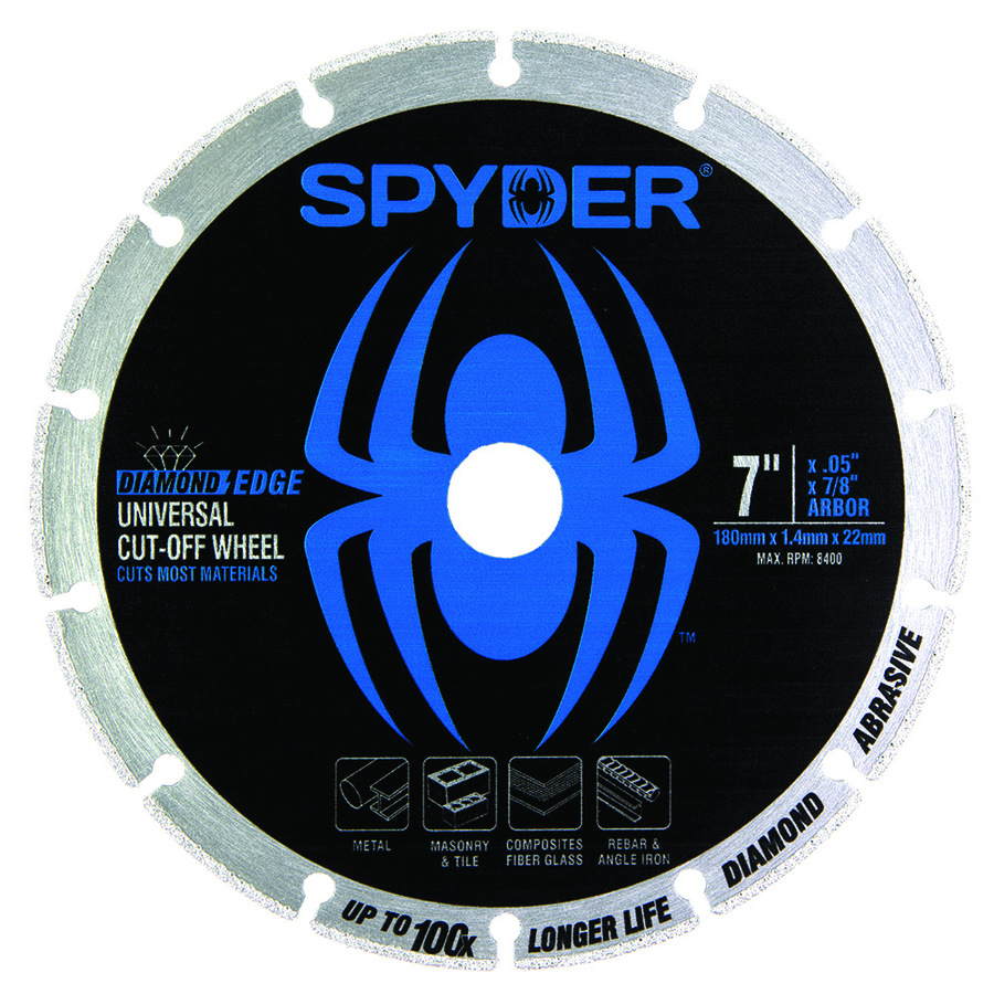 Spyder Diamond 7-in Diamond Arbor Cut-Off Wheel Stainless Steel   14007