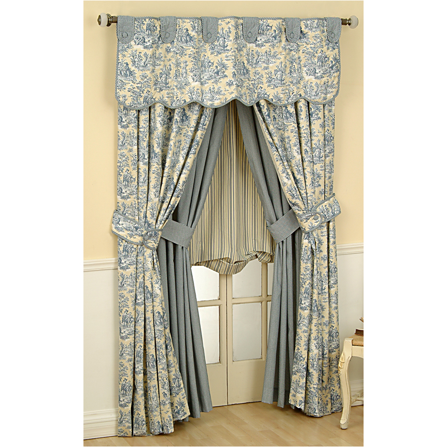 Shop Waverly Rustic Life 84-in L Lake Rod Pocket Curtain