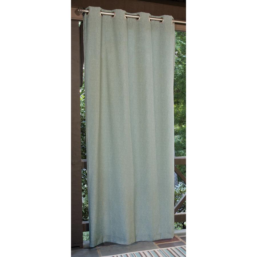 Shop Allen + Roth 108-in L Aqua Patio Curtains Outdoor