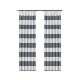 Display Product Reviews For Peabody 84 In Grey Polyester Rod Pocket Blackout Single Curtain Panel