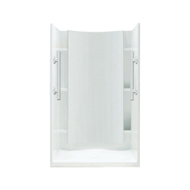 Sterling Accord White 4 Piece Alcove Shower Kit (Common: .