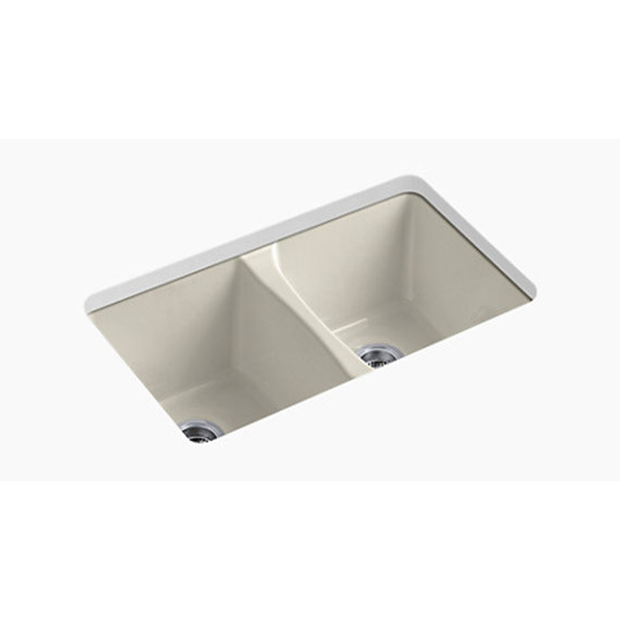 Shop KOHLER Deerfield Double-Basin Undermount Enameled ...