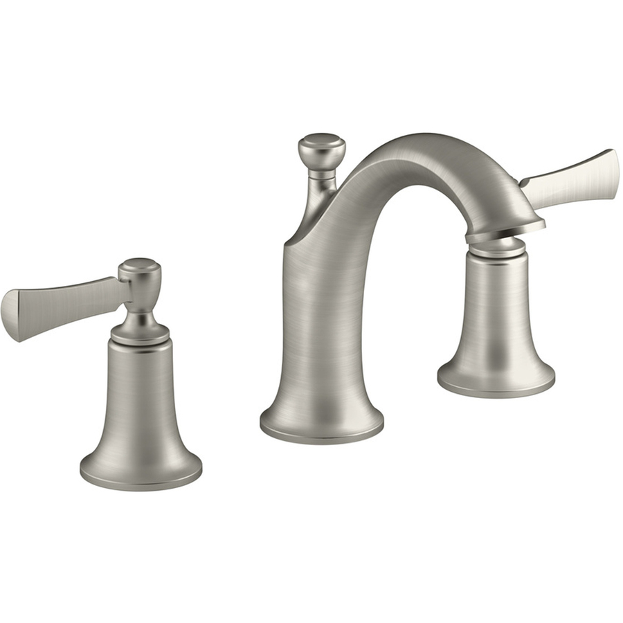 Shop kohler elliston vibrant brushed nickel 2 handle - Brushed nickel bathroom sink faucet ...