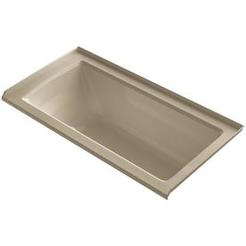 Kohler Underscore 60-In Mexican Sand Acrylic Alcove Air B...