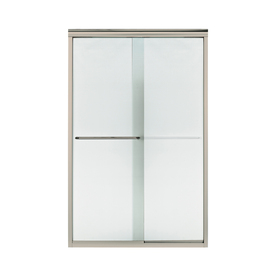 Sterling Finesse 44-In To 45.5-In W Frameless Brushed Nic...