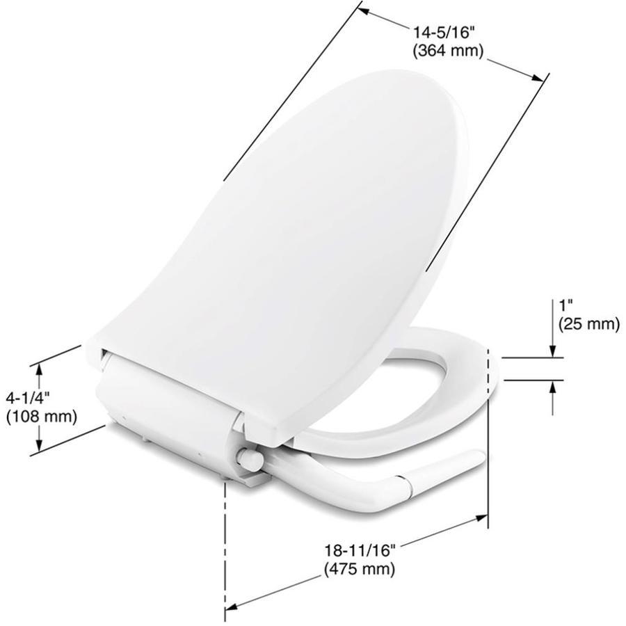 Kohler Puretide White Elongated Slow Close Bidet Toilet Seat At Lowes Com