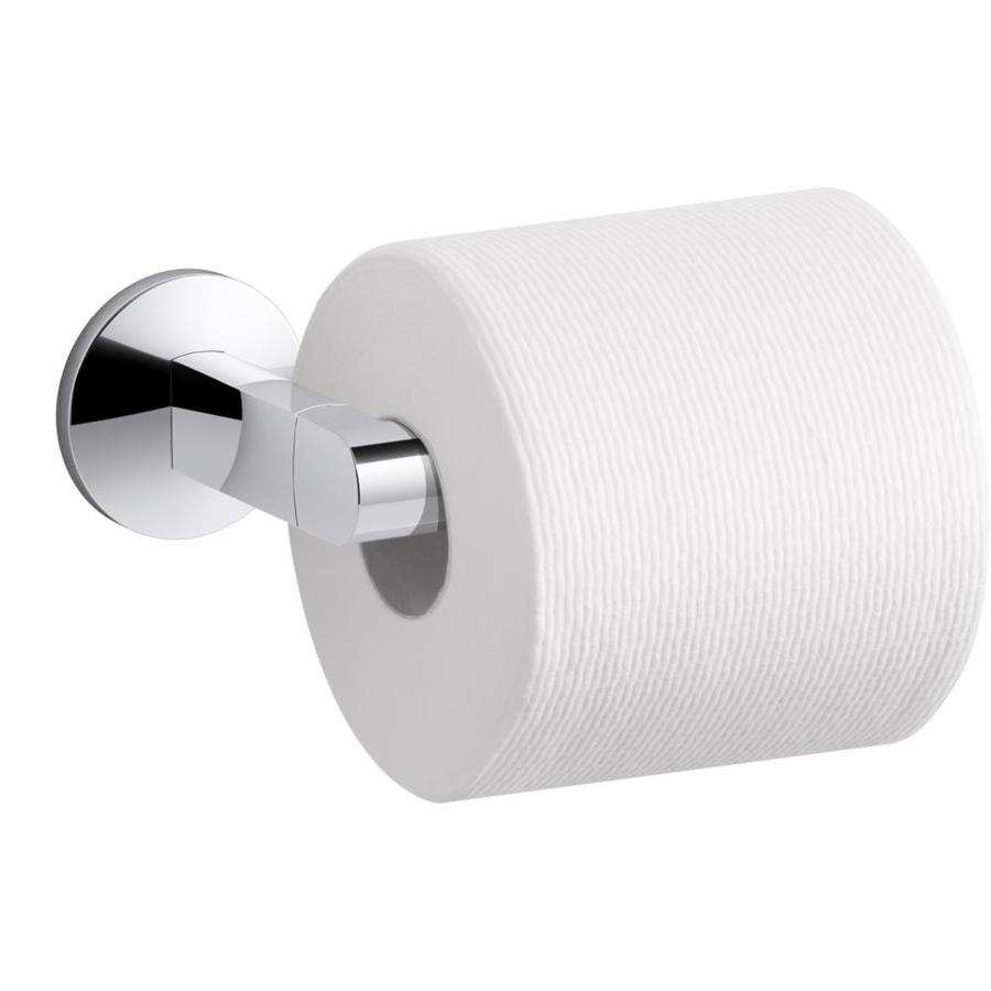 Kohler Components Polished Chrome Recessed Pivot Toilet Paper Holder In The Toilet Paper Holders Department At Lowes Com