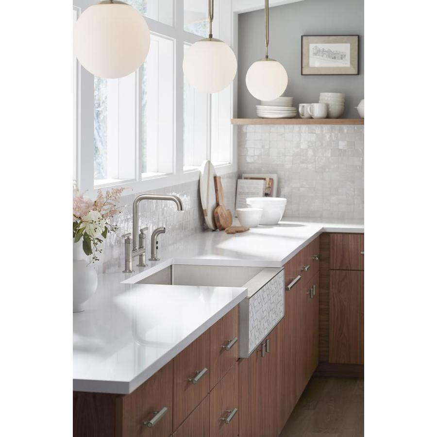Kohler Tailor Farmhouse Apron Front 35 5 In X 21 25 In Single Bowl Kitchen Sink In The Kitchen Sinks Department At Lowes Com
