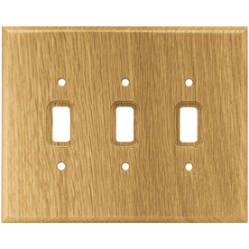 Display Product Reviews For Wood Square 3 Gang Medium Oak Triple Toggle Wall Plate