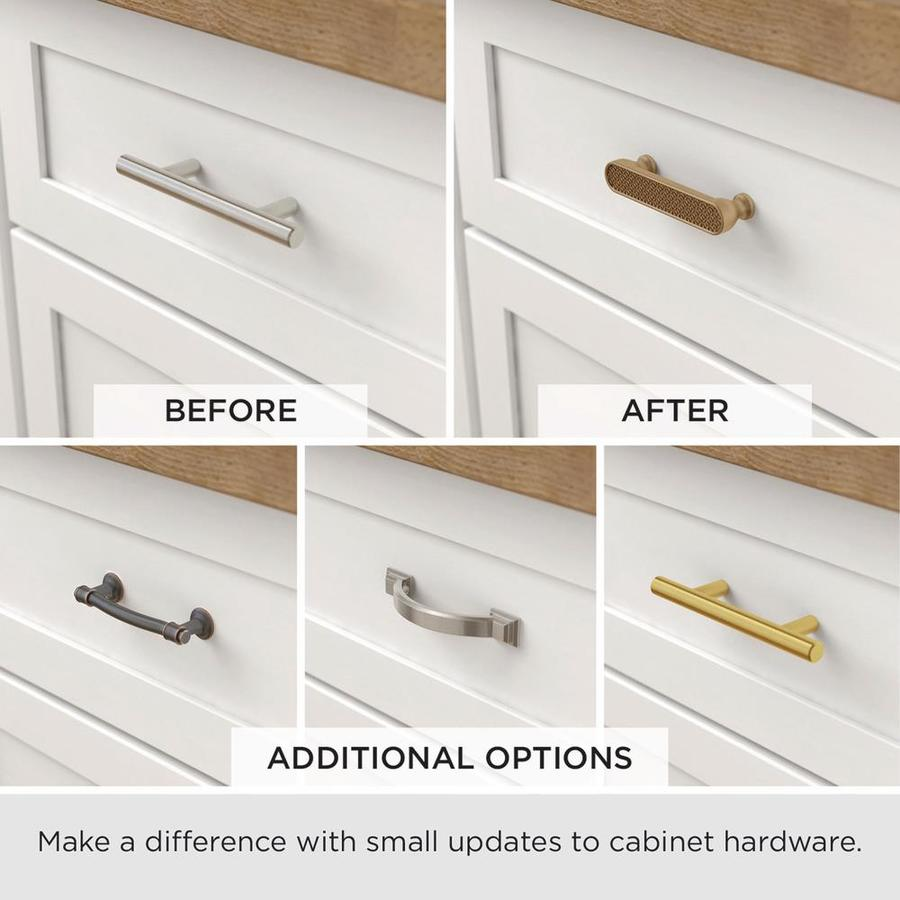 Brainerd Newton 2 3 4 In Or 3 In Center To Center Satin Nickel Dual Mount Arch Handle Cabinet Door Pull In The Drawer Pulls Department At Lowes Com
