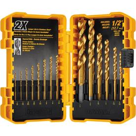 Dewalt 14-Piece Set Titanium Twist Drill Bit Set Dw1354