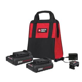 PORTER-CABLE 2-Pack 20-volt Max 1.3-Amp-Hours Lithium Power Tool Battery PCCK888LB