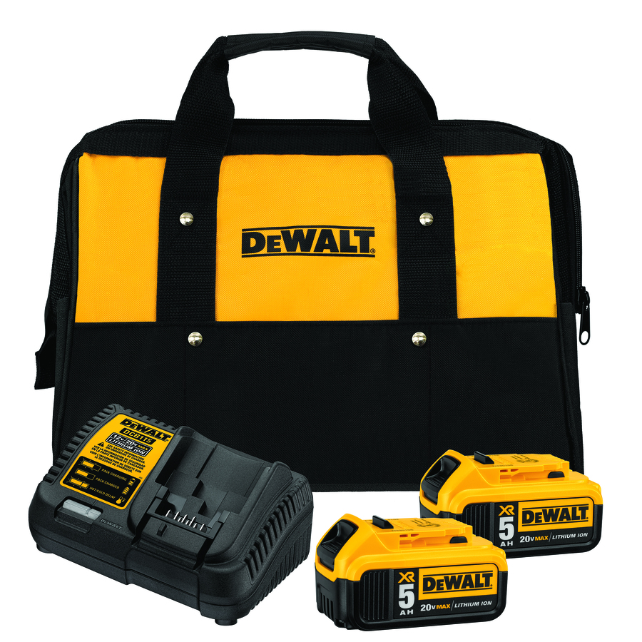 Dewalt Xr 2-Pack 20-Volt Max 5-Amp 5-Amp Lithium Power Tool Battery Kit (Charger Included) Dcb205-2Ck