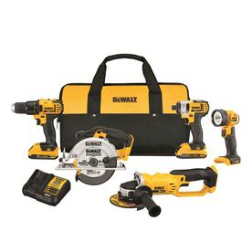 Dewalt Xr 20-Volt Max 5-Tool Power Tool Combo Kit With Soft Case (2-Batteries Included And Charger Included) Dck521d2