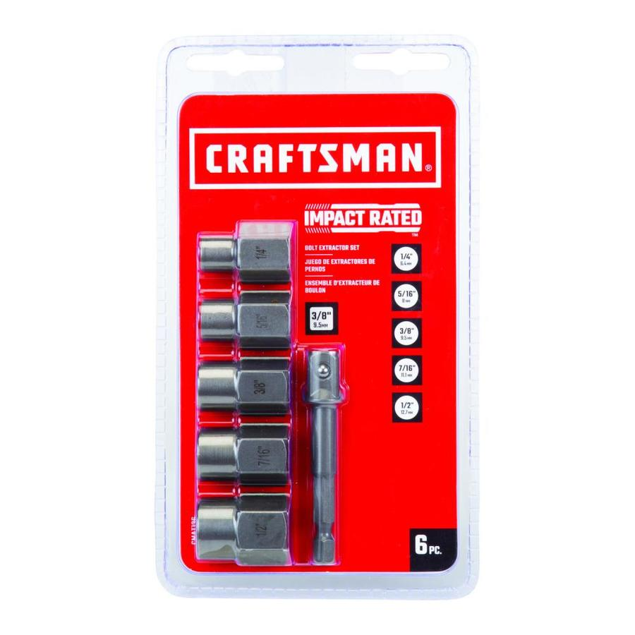 Craftsman 6 Pack Standard Sae Impact Bolt Extractor Set In The Bolt Extractors Department At Lowes Com