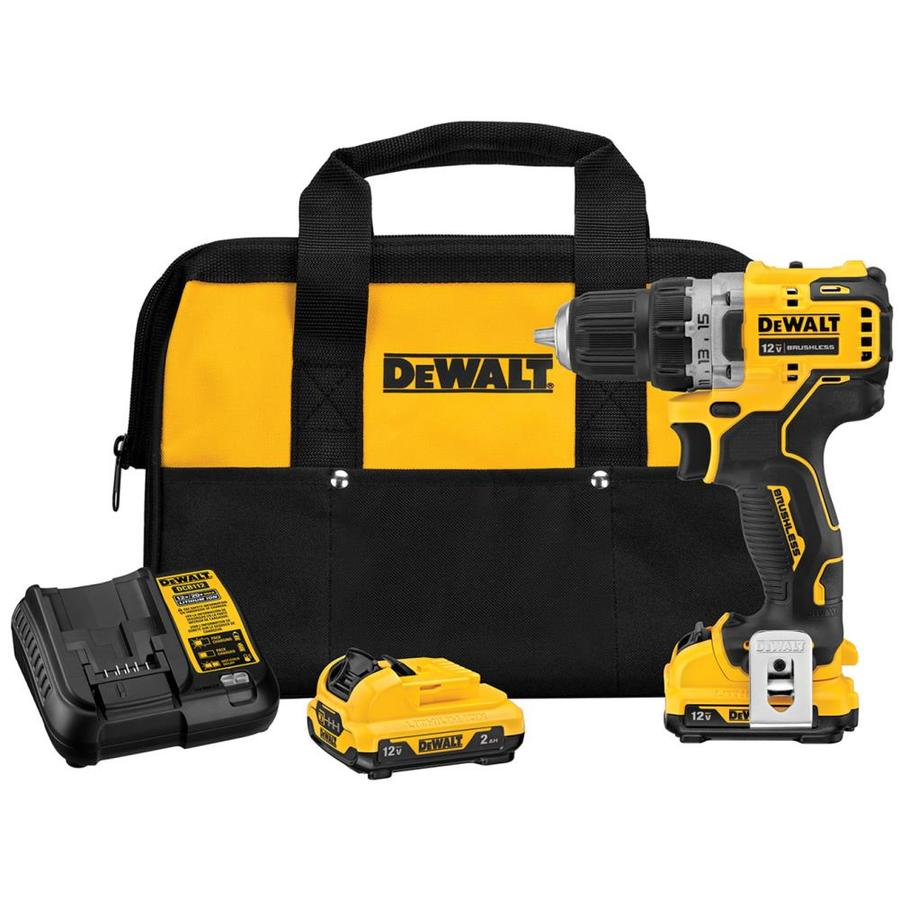 DEWALT XTREME 12-Volt Max 3/8-in Brushless Cordless Drill (Charger Included and 2-Batteries Included) | DCD701F2