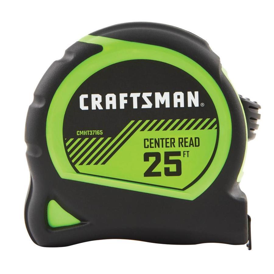 CRAFTSMAN HI-VIS 25-ft Tape Measure Rubber   CMHT37165S