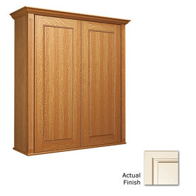 KraftMaid Savoy Provence Canvas with Cocoa Glaze 27 In Vanity Wall Cabinet VW270830. S2M5B56