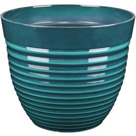 Display Product Reviews For 13 91 In W X 11 93 H Teal Resin Planter