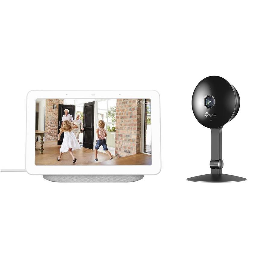 Google Nest Hub with Google Assistant in Chalk + TP-Link Kasa Cam Smart Home Camera | HUBCH-KC120-K
