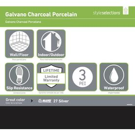 Style Selections Galvano Charcoal 12 In