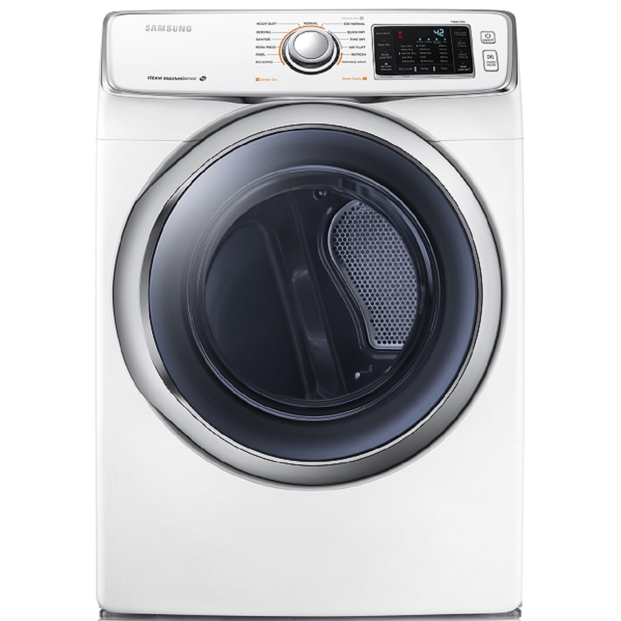Shop Samsung 7 5 Cu Ft Stackable Gas Dryer With Steam
