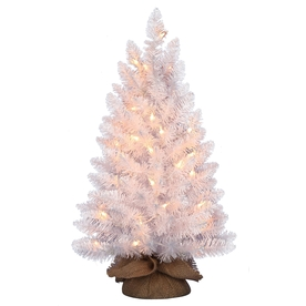 Holiday Living Pre-Lit PVC Tabletop Christmas Tree with Constant White Incandescent Lights TM20CH018C02